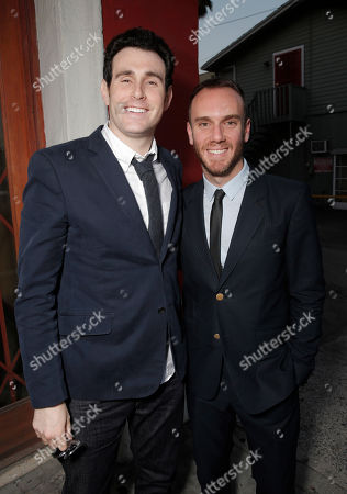 Alex Israel and Charlie McDowell attend the premiere of RADIUS-TWC's 'The One I Love' at the Vista Theatre on in Los Angeles