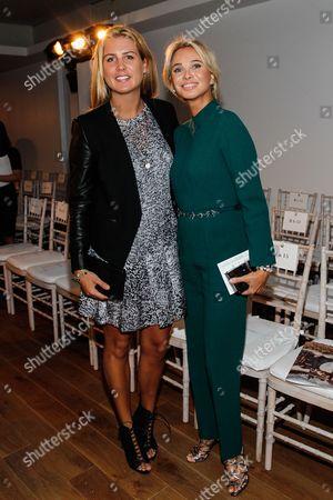 Anastasia Adkins and Corinna zu Sayn-Wittgenstein seen at MBFW Spring/Summer 2015 - Zac Posen fashion show at 3 East 54th Street, in New York