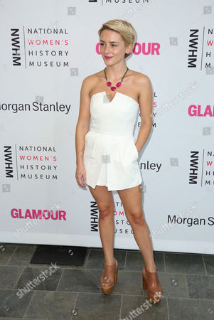 Addison Timlin seen at the 3rd Annual Women Making History Brunch presented by the National Women's History Museum and Glamour Magazine at the Skirball Cultural Center, in Los Angeles, Calif