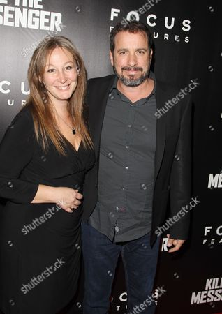 """Director Michael Cuesta right and guest attend the premiere of """"Kill The Messenger"""" at the Museum of Modern Art, in New York"""