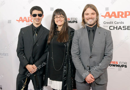 Musician Justin Kauflin, producer Paula DuPre Pesman and director Alan Hicks attend AARPs 14th Annual Movies for Grownups Awards Gala with Porsche at the Beverly Wilshire on Monday, February 2 in Beverly Hills, Calif