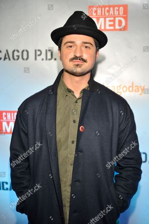 Yuri Sardarov seen at Red Carpet Event for NBC's 'Chicago Fire,' 'Chicago P.D.' and 'Chicago Med' at STK, in Chicago