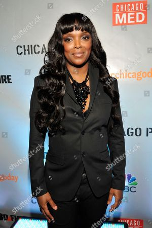 Marlyne Barrett seen at Red Carpet Event for NBC's 'Chicago Fire,' 'Chicago P.D.' and 'Chicago Med' at STK, in Chicago