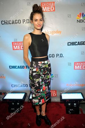 "Rachel DiPillo seen at Red Carpet Event for NBC's ""Chicago Fire,"" ""Chicago P.D."" and ""Chicago Med"" at STK, in Chicago"