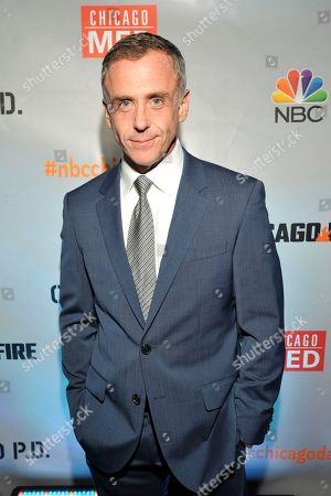 "David Eigenberg seen at Red Carpet Event for NBC's ""Chicago Fire,"" ""Chicago P.D."" and ""Chicago Med"" at STK, in Chicago"