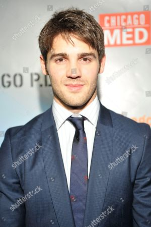 """Steven R. McQueen seen at Red Carpet Event for NBC's """"Chicago Fire,"""" """"Chicago P.D."""" and """"Chicago Med"""" at STK, in Chicago"""