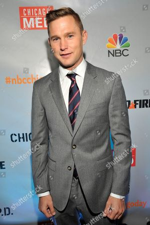 "Brian Geraghty seen at Red Carpet Event for NBC's ""Chicago Fire,"" ""Chicago P.D."" and ""Chicago Med"" at STK, in Chicago"