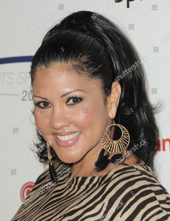 """Boxer Mia St. John attends the """"Sports Spectacular"""" on in Los Angeles, Calif"""