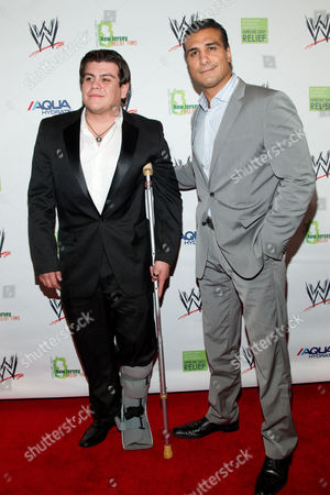 Ricardo Rodriguez and Alberto Del Rio attends the Superstars For Sandy Relief Event, on in New York, NY