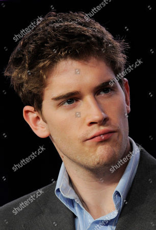 "Brendan Dooling, a cast member in ""The Carrie Diaries,"" looks on during a panel discussion on the series at The CW Winter TCA Tour at the Langham Huntington Hotel, in Pasadena, Calif"