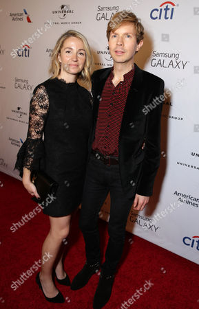 Marissa Ribisi and Beck seen at the Universal Music Group 2015 Grammy After Party presented by America Airlines and Citi held at The Ace Hotel, in Los Angeles
