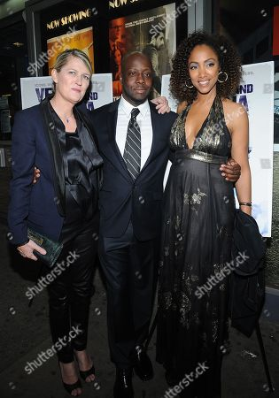 Director Maiken Baird, left, Wyclef Jean, center, and director Michelle Major attend the Venus and Serena Special Screening at the IFC Center on in New York