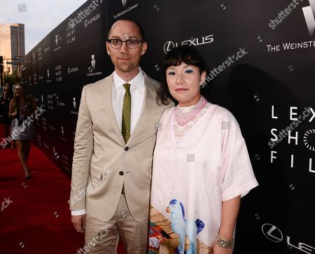 """Director Jon Goldman, left, and director Satsuki Okawa attend the world premiere of """"Lexus Short Films"""" presented by Lexus and The Weinstein Company at Regal LA LIVE on in Los Angeles"""