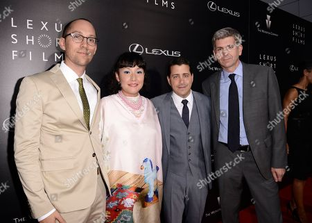 "From left to right, director Jon Goldman, director Satsuki Okawa, The Weinstein Company COO David Glasser, and Lexus International GM of Global Branding John Thomson attend the world premiere of ""Lexus Short Films"" presented by Lexus and The Weinstein Company at Regal LA LIVE on in Los Angeles"