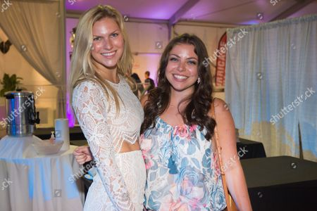 "Ally Shapiro, left, and Rachel Brandt attend the 12th Annual ""A Hamptons Happening"", celebrating the 40th Anniversary of the Samuel Waxman Cancer Research Foundation, at a private Bridgehamton residence, in New York"