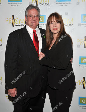 Brian Dyak, president and CEO of EIC, left, and actress Mackenzie Phillips arrive at the 17th Annual Prism Awards Ceremony at The Beverly Hills Hotel, in Beverly Hills, Calif