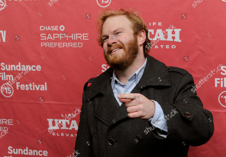 "Henry Zebrowski, a cast member in ""The D Train,"" poses at the premiere of the film at the Library Center Theatre during the 2015 Sundance Film Festival, in Park City, Utah"