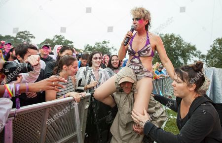 Merrill Beth Nisker performs as Peaches at the Voodoo Music Experience, in New Orleans