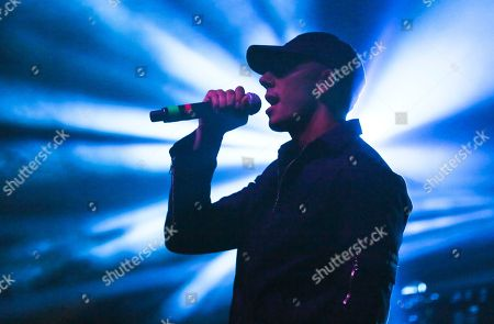 Stock Picture of Majid Jordan's Majid Al Maskati performs at the FADER FORT Presented by Converse during the South by Southwest Music Festival, in Austin, Texas