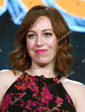 """Executive Producer Kathryn Renee Thomas appears during the """"Teachers"""" panel at the TV Land 2016 Winter TCA, in Pasadena, Calif"""