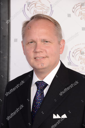 President and CEO of Montblanc North America, Jan-Patrick Schmitz is seen at the 30th Running of the Breeders' Cup World Championships Day 2, on in Arcadia, Calif