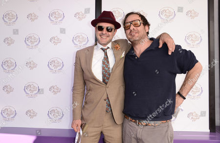 Stock Image of David Arquette, left, and Richmond Arquette are seen at the 30th Running of the Breeders' Cup World Championships Day 2, on in Arcadia, Calif