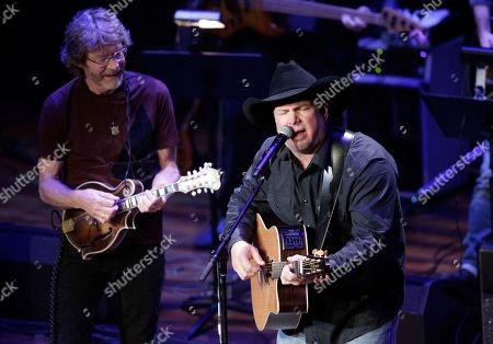 Stock Photo of Garth Brooks and Sam Bush perform during the 54th Annual ASCAP Country Music Awards at the Ryman Auditorium on in Nashville, Tenn