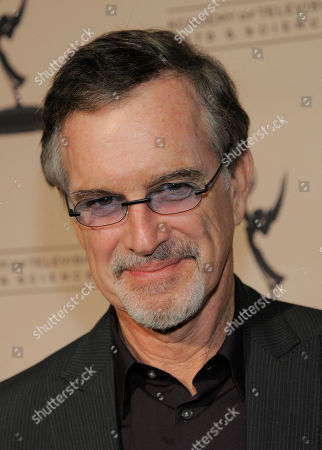 """Garry Trudeau, creator and executive producer of the Amazon Studios original series """"Alpha House,"""" poses at the Amazon Studios at the Television Academy event on in Los Angeles"""
