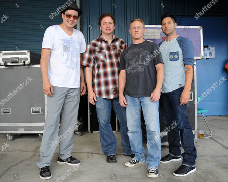 "JULY 18: (L-R)Todd Park Mohr,Jeremy Lawton,Rob Squires and Brian Nevin of Big Head Todd and the Monsters appear during the ""Last Summer on Earth Tour 2012"" at the Cruzan Amphitheater on in West Palm Beach, Florida"