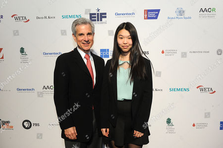 Dr. Howard Scher, Chief of Genitourinary Oncology Service at the Sidney Kimmel Center for Urologic and Prostate Cancers, left, and Alice Liu attend CANCER: THE EMPEROR OF ALL MALADIES screening at Jazz at the Lincoln Center on in New York