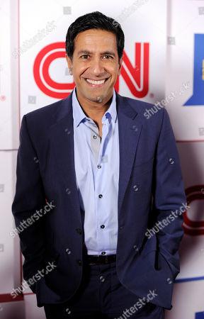 Dr. Sanjay Gupta of CNN poses at the CNN Worldwide All-Star Party,, in Pasadena, Calif