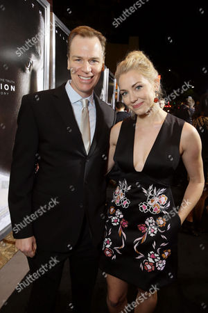 Producer David Wolthoff and Sara Lindsey seen at Columbia Pictures Special screening of 'Concussion' at Regency Village Theatre, in Los Angeles, CA