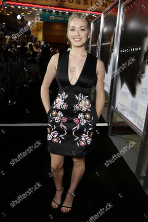 Sara Lindsey seen at Columbia Pictures Special screening of 'Concussion' at Regency Village Theatre, in Los Angeles, CA