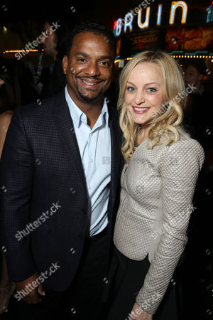 Alfonso Ribeiro and Angela Unkrich seen at Columbia Pictures Special screening of 'Concussion' at Regency Village Theatre, in Los Angeles, CA