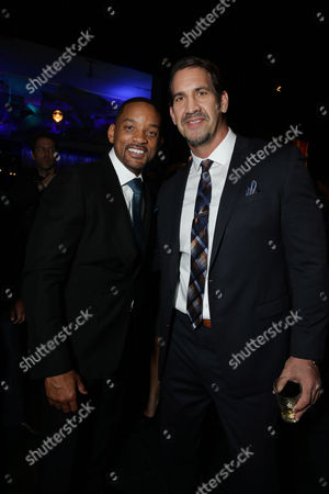 Will Smith and Matt Willig seen at Columbia Pictures Special screening of 'Concussion' at Regency Village Theatre, in Los Angeles, CA