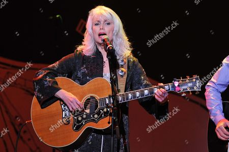 "Musician Emmy Lou Harris performs at ""Play It Forward: A Celebration of Music's Evolution and Influencers"" at the Grammy Foundation's 15th Annual Music Preservation Project, in Los Angeles"
