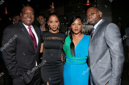 Rodney Peete, Holly Robinson Peete, Keisha Spivey and Omar Epps attend a private dinner hosted by Hennessy V.S.O.P Privilege and LL COOL J at Hinoki and the Bird in celebration of Music's Biggest Night on Saturday, February 7, in Los Angeles