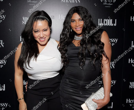 Stock Photo of Cheryl James and Sandy Denton aka Salt -N- Pepa attend a private dinner hosted by Hennessy V.S.O.P Privilege and LL COOL J at Hinoki and the Bird in celebration of Music's Biggest Night on Saturday, February 7, in Los Angeles