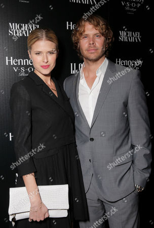 Sarah Wright and Eric Christian Olsen attend a private dinner hosted by Hennessy V.S.O.P Privilege and LL COOL J at Hinoki and the Bird in celebration of Music's Biggest Night on Saturday, February 7, in Los Angeles