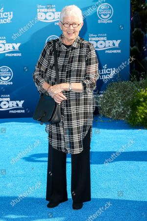 """Betty DeGeneres arrives at the Premiere of """"Finding Dory"""" at the El Capitan Theatre, in Los Angeles"""