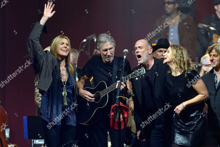 Grace Potter, Roger Waters, Marc Cohn and Amy Helm perform onstage at the Love for Levon Benefit to Save the Barn Concert, in East Rutherford, New Jersey