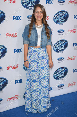 "Stock Picture of Emily Piriz attends FOX's ""American Idol XIII"" finalists party at Fig & Olive Melrose Place on in West Hollywood, Calif"