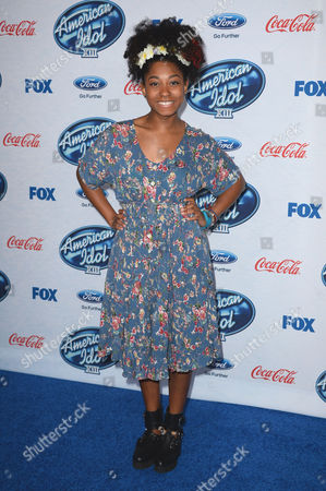 """Majesty Rose attends FOX's """"American Idol XIII"""" finalists party at Fig & Olive Melrose Place on in West Hollywood, Calif"""
