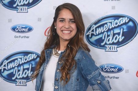 "Emily Piriz attends FOX's ""American Idol XIII"" finalists party at Fig & Olive Melrose Place on in West Hollywood, Calif"