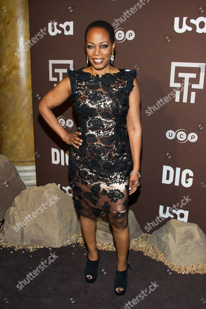 "Regina Taylor attends the premiere of the USA Network's new series ""Dig"" on in New York"