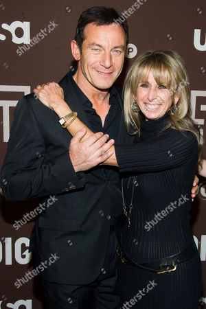"Jason Isaacs and Bonnie Hammer attend the premiere of the USA Network's new series ""Dig"" on in New York"