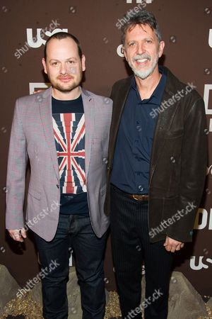 """Gideon Raff and Tim Kring attend the premiere of the USA Network's new series """"Dig"""" on in New York"""