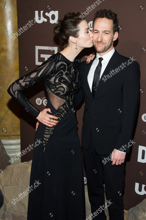"Yael Goldman and Ori Pfeffer attend the premiere of the USA Network's new series ""Dig"" on in New York"