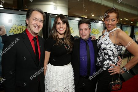 """Writer/Editor Kurt Kuenne, Mike Jutan, Director/Producer/Writer Dana Nachman and Executive Director, Make-A-Wish Greater Bay Area - Patricia Wilson seen at New Line Cinema Los Angeles Special Screening of """"Batkid Begins"""" at The Landmark Theatre, in Los Angeles, CA"""