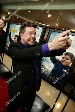"""Mike Jutan seen at New Line Cinema Los Angeles Special Screening of """"Batkid Begins"""" at The Landmark Theatre, in Los Angeles, CA"""
